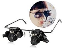 Очки для ремонта часов с лупой и подсветкой
