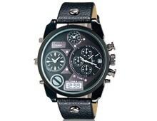 Комбинированные часы с календарем (Цв. Черный)